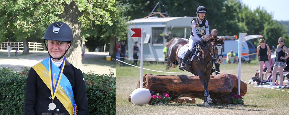 Elsa Enskär tog guld i sin första stora tävling. Foto: Angelica Forsberg/Fredrik Jonsving