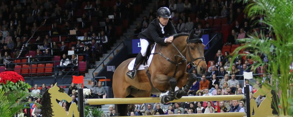 Rolf-Göran_Bengtsson på Oak Grove's Carlyle, arkivbild från Gothenburg Horse Show Foto: Kim C Lundin
