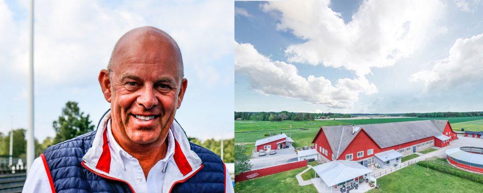 Sylve Söderstrand och en Rekasta på bild från Mäklarhusets annons för gården. Foto: Kim C Lundin