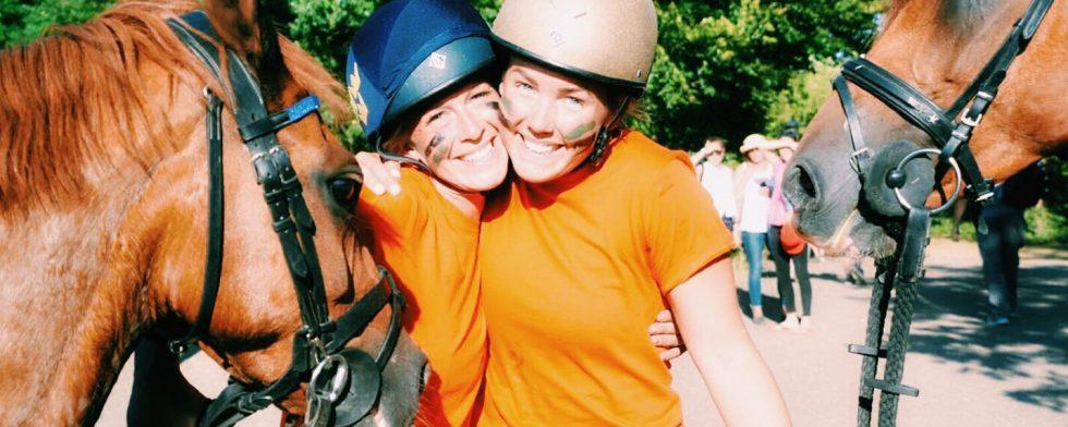 Caroline Claeson och Hanna Kindholm tog sig till en sjätteplats i VM. Foto: Privat