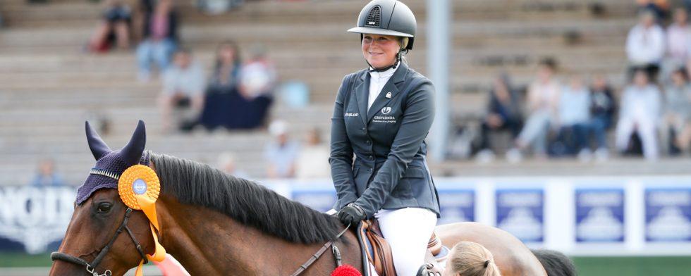 Stephanie Holmén blev bästa svensk i Hickstead. Foto: Fredrik Jonsving