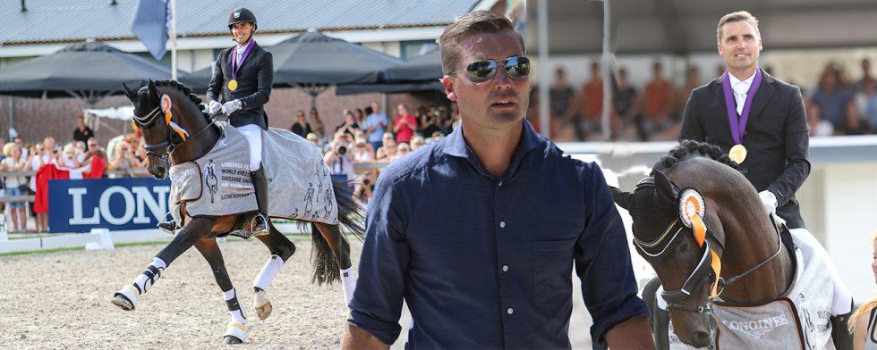 Ryttaren och affärsmannen Andreas Helgstrand har skapat världens största handelsstall för dressyrhästar som ägs av en investeringsfond. Foto: Kim C Lundin
