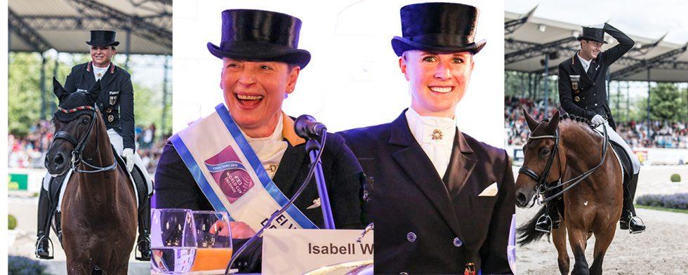 Guldfavoriterna är uttagna, från vänster Dorothee Schneider, världsettan Isabell Werth, Jessica von Bredow-Werndl och Sönke Rothenberger som båda VM-debuterar. Foto: Kim C Lundin