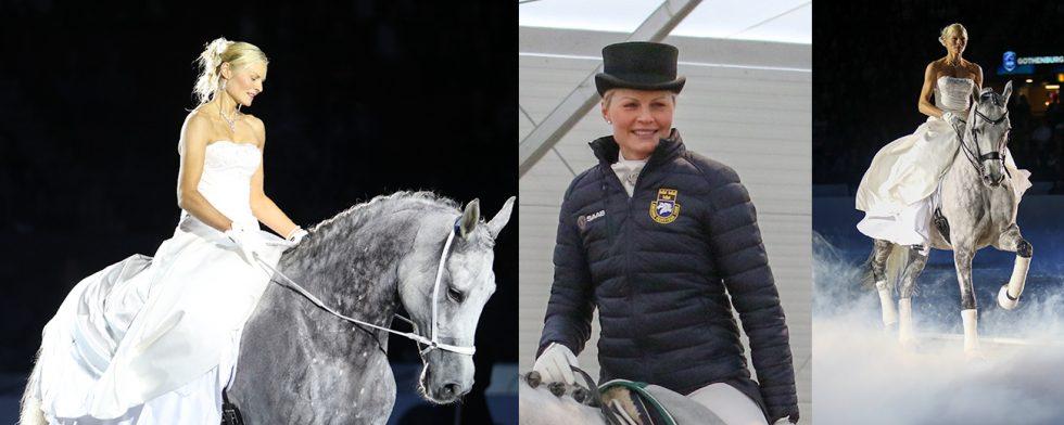 Anna Blomgren och Tørveslettens Quattro i Göteborg respektive i Herning i februari och mars 2018. Foto:  Kim C Lundin