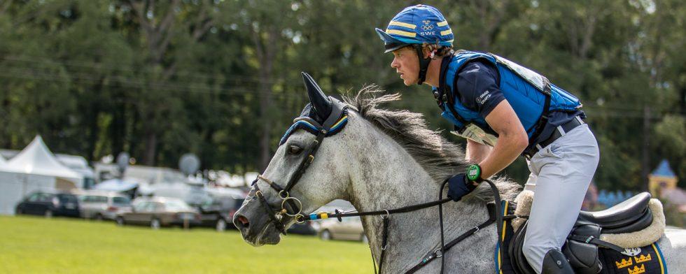 Ludwig Svennerstål och EM-hästen PAramount Importance i Strzegom 2017 Foto: Kim C Lundin