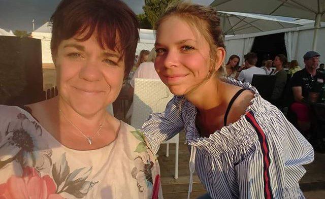 Madeleine Hansback fick se den otäcka olyckan med sin dotter Hilma. Foto: Privat