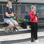 Danska förbundskaptenen och teamtränaren prinsessan Nathalie zu Sayn Wittgenstein.