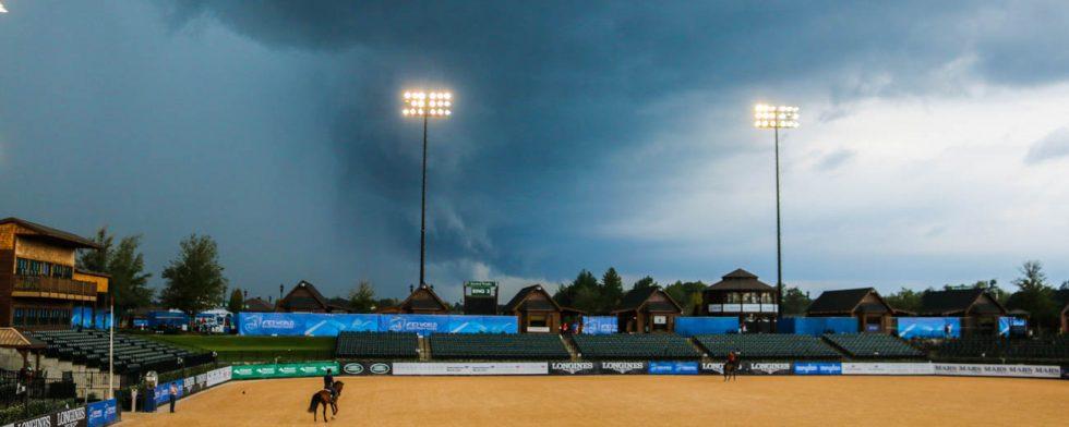 Dramatiskt väder kan komma till VM och Tryon. Foto: Kim C Lundin