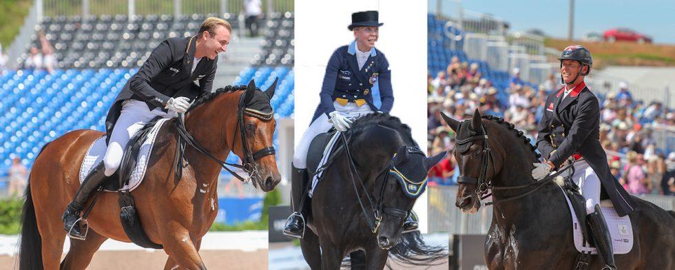 Sönke Rothenberger, Therese Nilshagen och Carl Hester.