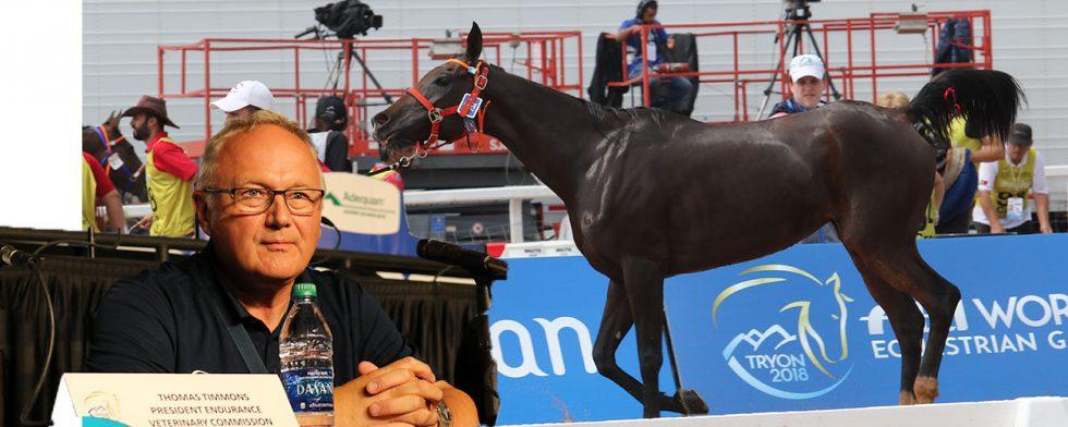 Göran Åkerström är trots allt hoppfull om att få till förändringar inom distansen. Hästen på bilden är inte den som avlidit. Foto: Kim C Lundin