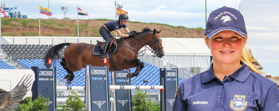 "VM-reserven Stephanie Holmén och hennes ""Sparven"". Foto: Kim C Lundin"