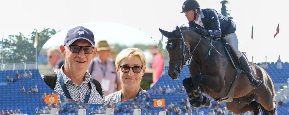 Lars Ingvarsson och Yvonne Sterntorp med  Cold Play och Fredrik Jönsson Foto:  Kim C Lundin