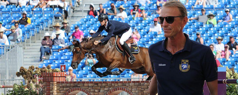 Peder Fredricson och H&M Christian K är redo inför finalen. Foto: Kim C Lundin