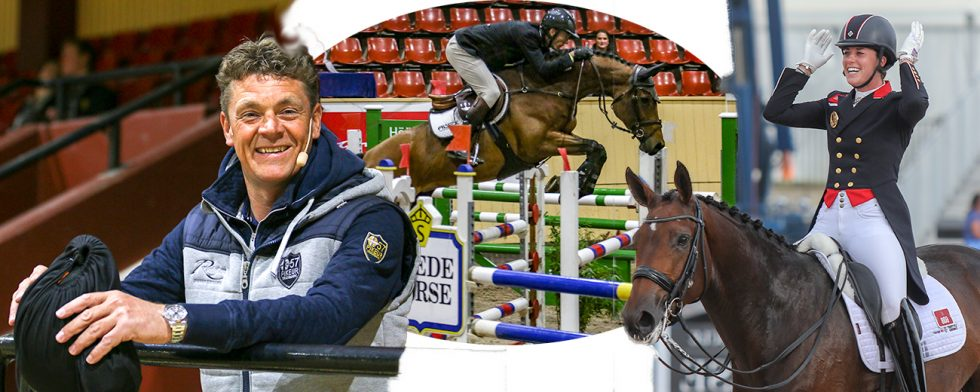 Jeroen Dubbeldam lockar men inte lika mycket som Charlotte Dujardin. På hoppbilden en verklig BT-häst, stoet Lucky Lisa uppfödda av Nissekalle Hovslageri och riden av Alexander Zetterman. Foto: Kim C Lundin