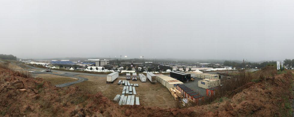 VM i Tryon är en stor byggarbetsplats. Foto: Kim C Lundin