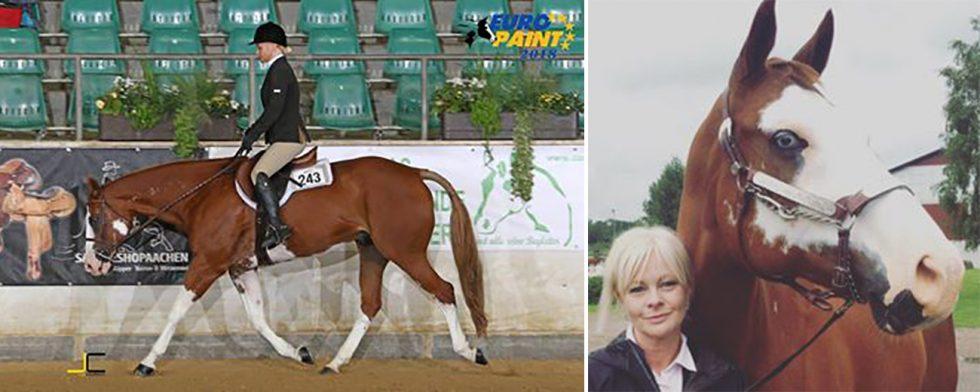 Anette Mårtensson fick se sin älskade häst bli påkörd av en bil. Nu har de tagit EM-medalj. Foto: Privat
