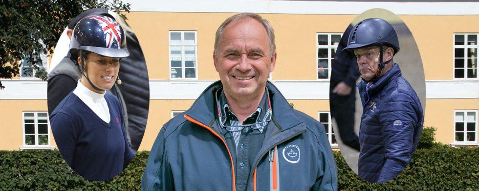Tävlingsledare tomas Torgersen med  de två testryttarna – framtidens melodi  för Breeders Trophy? Foto: Kim C Lundin