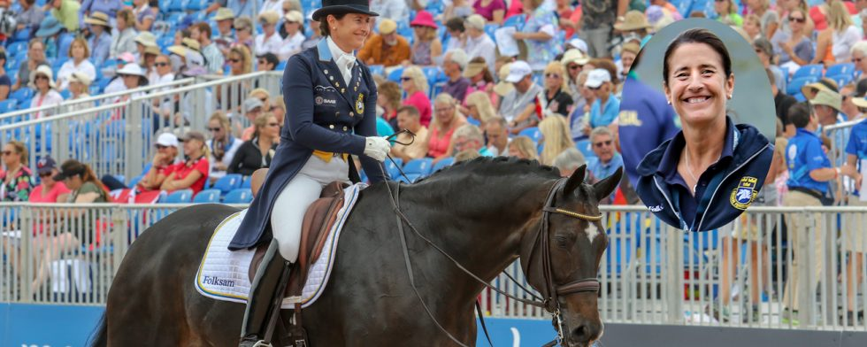 Tinne Vilhelmson Silfvén och hennes Don Auriello på VM i Tryon  foto: Kim C Lundin