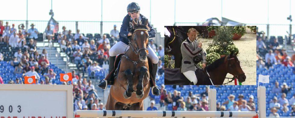 Peder Fredricson och H&M Christian K går i mål på VM i Tryon i snabb stil, infälld bild från prisutdelning i Verona. Foto: Kim C Lundin / Screenshot