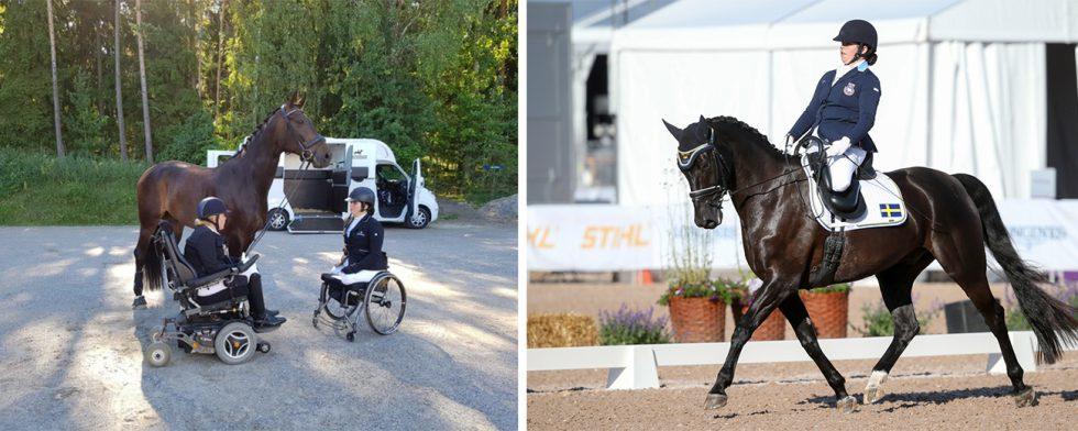 Maria Prenborn har startat en insamling till förmån för Felicia Grimmenhag som är nyopererad efter en ridolycka. Foto: Privat/Fredrik Jonsving