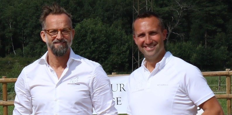 Peter Härnstam och Kristian von Krusenstierna ligger bakom DressagePower. Foto: Privat