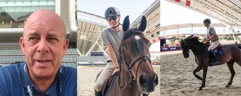 Sylve Söderstrand träffar Peder Fredricson och H&M Christian K på plats i Al Shaquab, Doha.