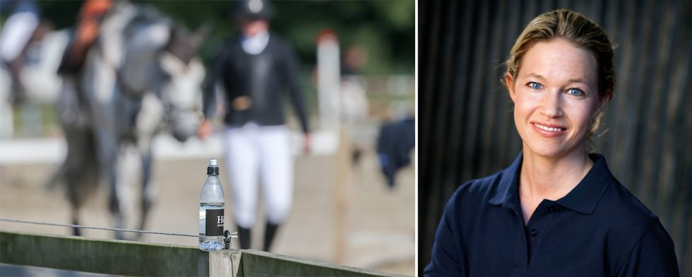 Sofia Grenevall påtalar vikten av att vara balanserad som ryttare. Foto: Fredrik Jonsving