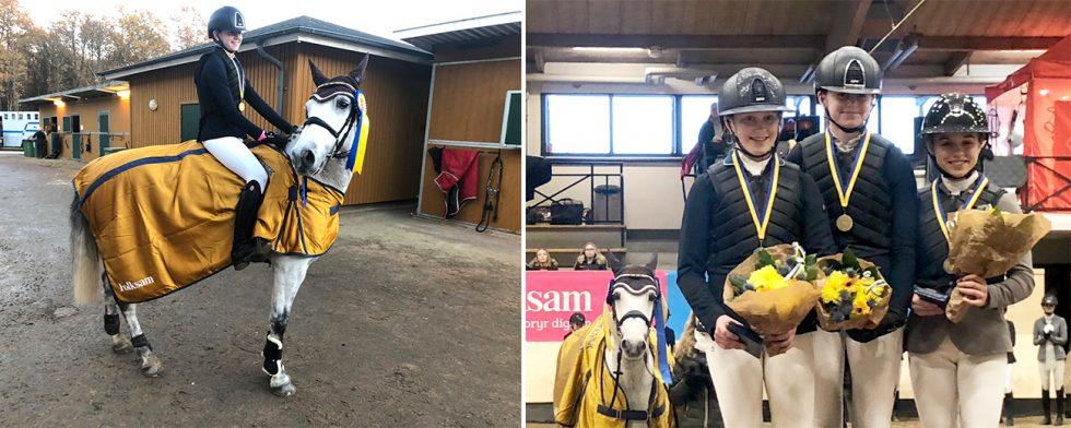 Sally Wikner är svensk mästare. Silver och brons gick till Signe Svensson och Mathilda Bohlin. Foto: Angelica Forsberg