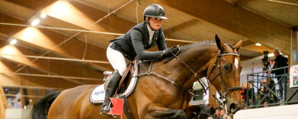 Segerhopp! Stephanie Holmén fick sitt SM-guld som senior. Foto: Fredrik Jonsving