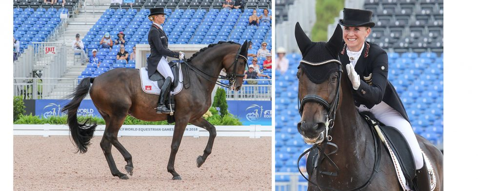 Jessica von Bredow-Werndl med TSF Dalera BB, en blivande superstar. Foto: Kim C Lundin