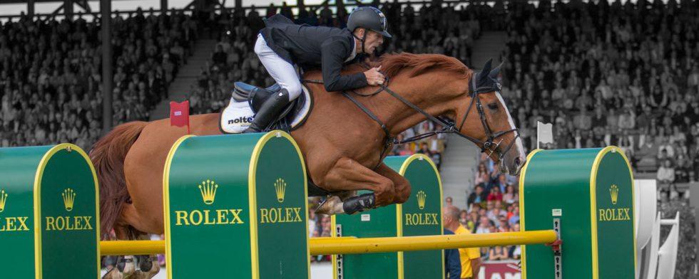 Marcus Ehning och Pret a Tout vid ett annat Rolex Grand Slam evenemang – Aachen. Foto: Kim C Lundin