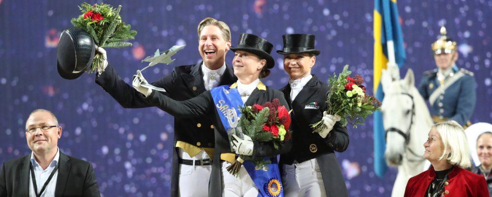 Isabelle Werth ligger etta på rankingen. Men Patrik Kittel har också tre hästar i topp 20. Foto: Kim C Lundin