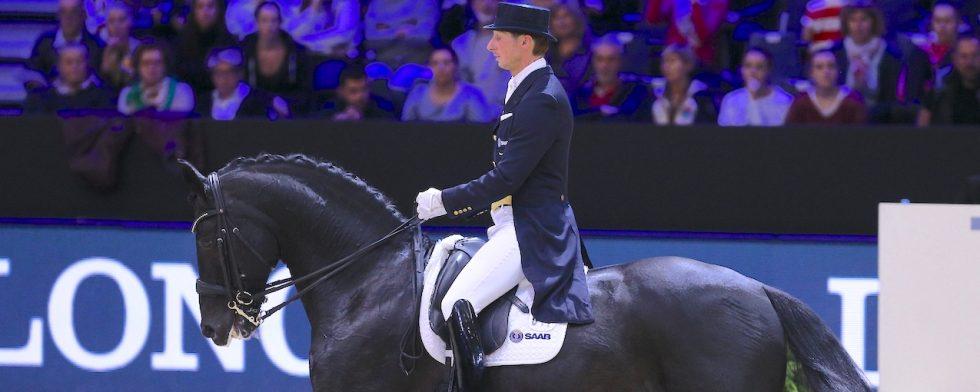 Delatio och Patrik Kittel  i en bild från Equita Lyon och världscupen där de var tvåa Foto: ©PSV EQUITA LONGINES