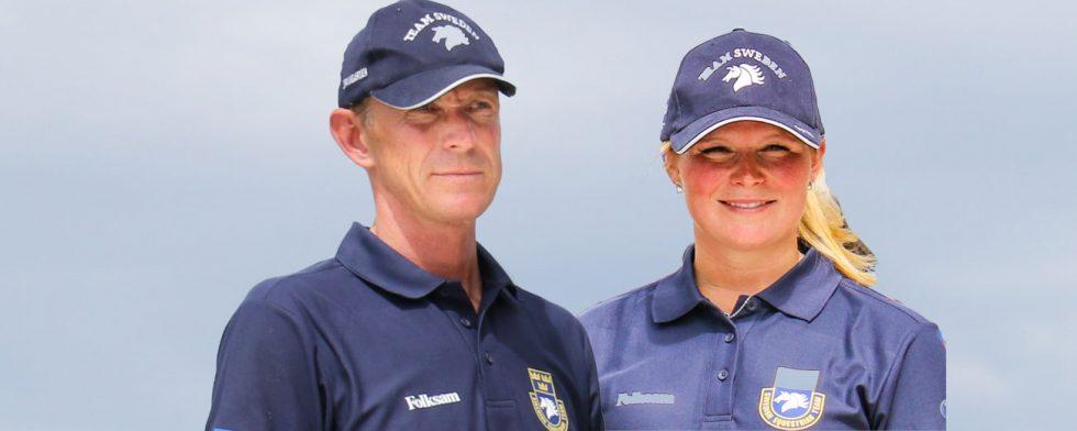 Peder Fredricson och Stephanie Holmén startar i världscupkvalet i Basel. foto: Kim C Lundin