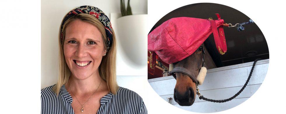 Sara Nilsson är glad för att hästen Turesson är tillbaka i träning. Foto: Privat