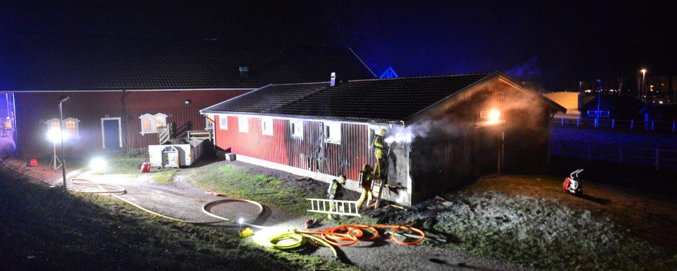 Branden utbröt under natten till fredag. Foto: Niklas Luks