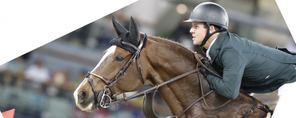Main Road och Shane Sweetnam i hästens rätta element under GCT i Doha Foto: GCT/Stefano Grasso
