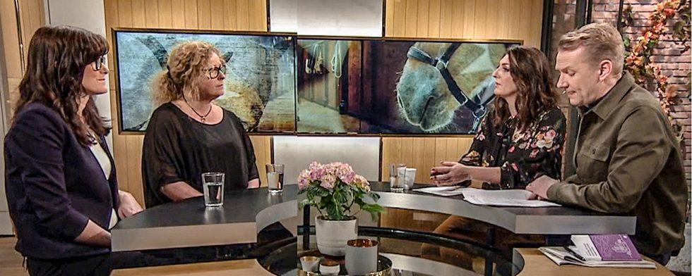 Nyhetsmorgon med Jesper och Soraya gästades av Ann Borglund och Gittan Gröndahl Foto: Skärmkopia