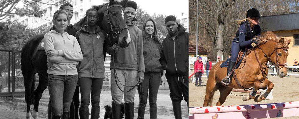 Samarbete mellan Ebony Horse Club i Storbritannien och Hufvudsta ridklubb i Solna.