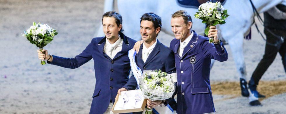 Martin Fuchs, Steve Guerdat och Peder Fredricson Foto: Kim C Lundin