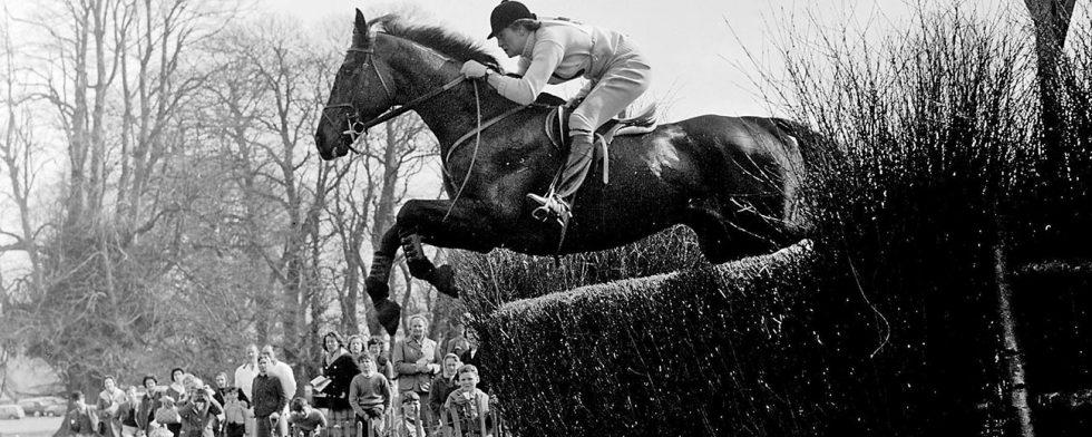 Anneli Drummond-Hay & Merely a Monarch, Badminton Horse Trials 1962. Foto © Badminton Horse Trials