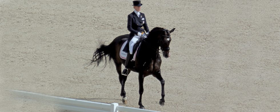 Nathalie zu Sayn-Wittgenstein och 22-årige Digby gjorde bejublad uppvisning. Bild från VM i Caen 2014.