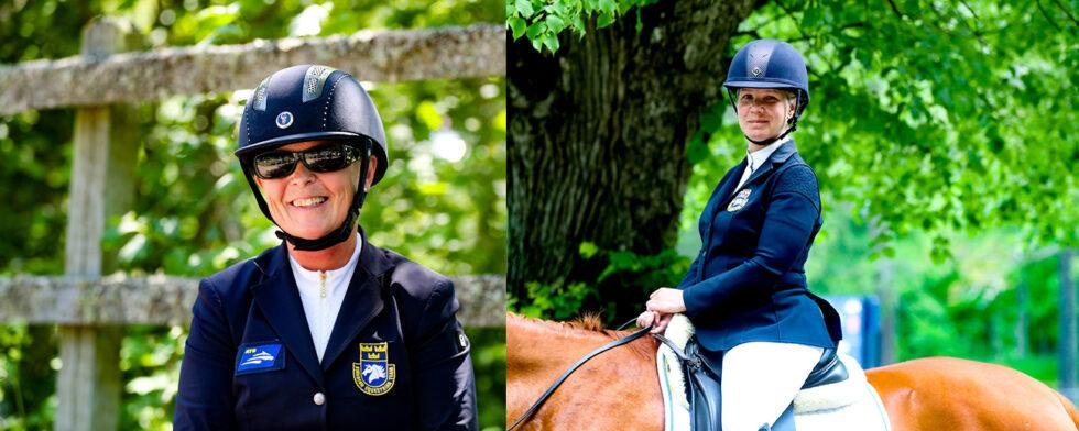 Louise Etzner Jakobsson och Anita Johnsson, två av dagens svenska mästare i paradressyren. Foto Fredrik Jonsving