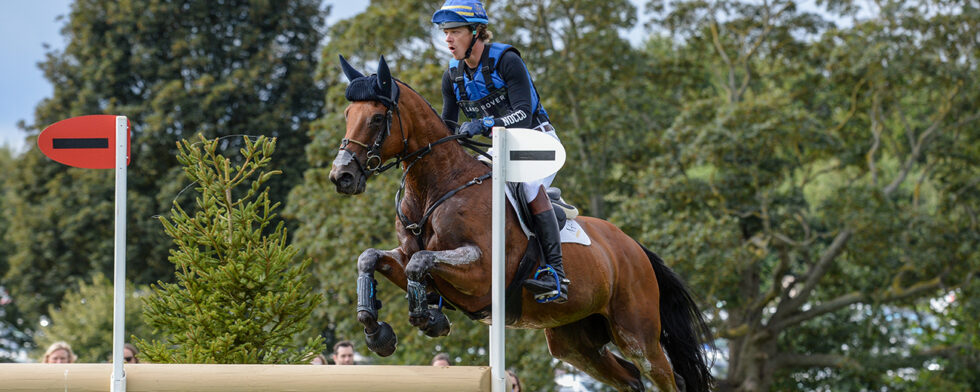Ludwig Svennerstal och Stinger, Burghley horse Trials 2019. Foto Nixonphoto
