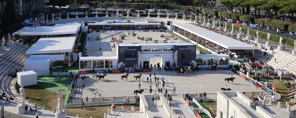 Global Champions arena i Rom. Stefano Grasso/LGCT