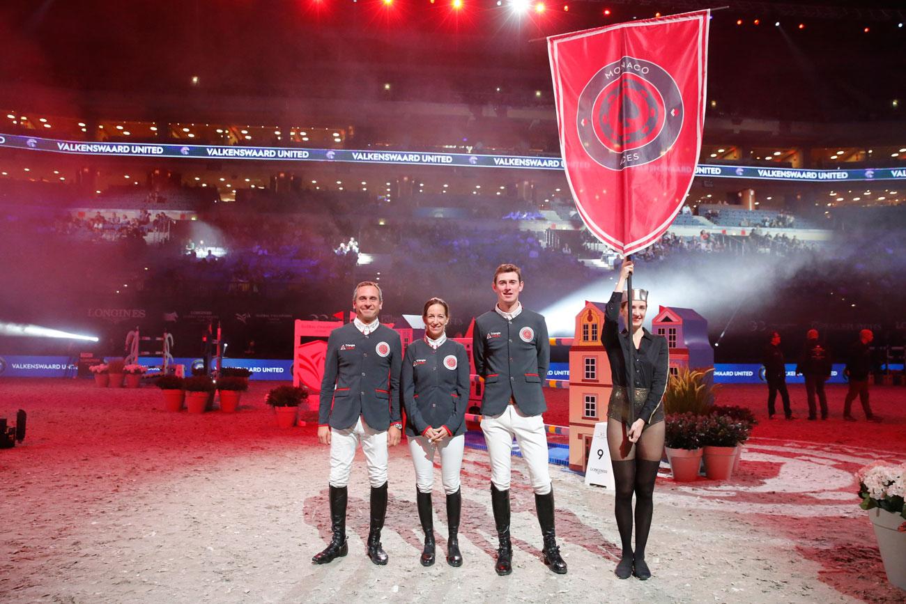 Monaco Aces med Julien Epaillard, Laura Kraut och Jos Verlooy.