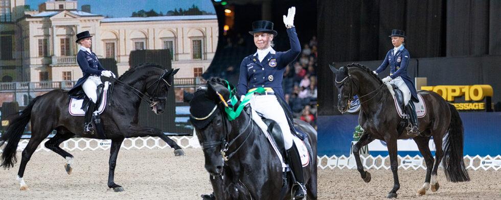 Therese Nilshagen och Dante Weltino OLD i glimtar från Grand Prix klassen. Foto: Kim C Lundin