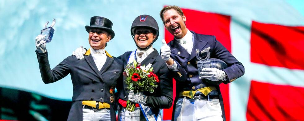 Topp-tre på pallen Werth-Dufour-Kittel Foto: Fredrik Jonsving