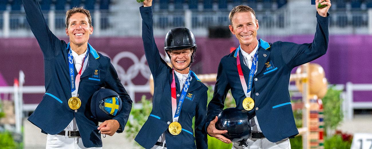 [OS i Tokyo] Blött firande för guldmedaljörerna