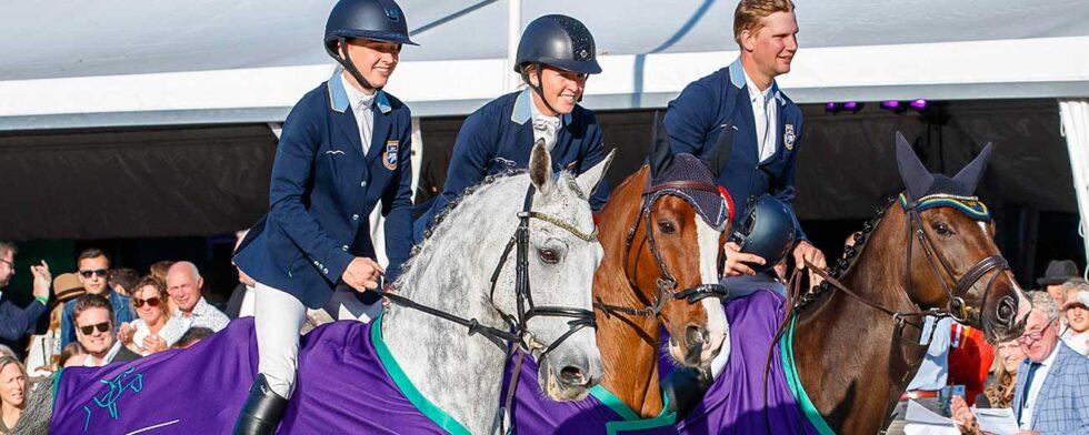 Lina Forsberg; Sandra Gustafsson; Christoffer Forsberg. Foto FEI/Libby Law Photography